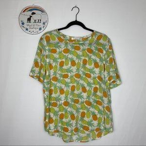 Equipment Femme Silk Pineapple Blouse size L